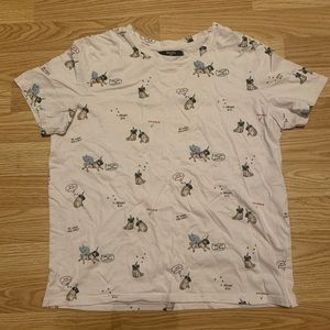 Bershka unicorn pugs crop top